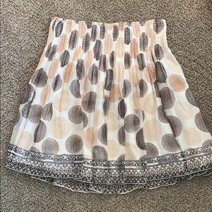 White House Black Market silk skirt